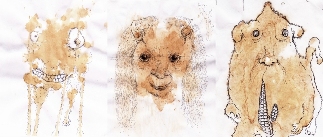 tea stain doodles together