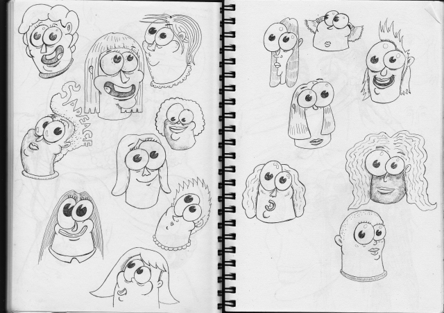 faces sketchbook